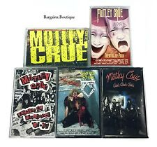 Motley Crue / Twisted Sister 80's Glam Metal Cassette Tape Lot Of 5 Rock Hungry