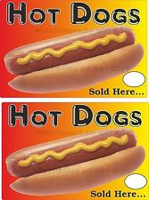 2  Hot dog stickers for ice cream van  catering trailer