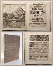 Christian Schlegels weitere Ausführung 1720 Münze Heinrich Thüringen Frontispiz