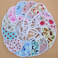 10x Newborn Baby Boy Girls kids Bibs Waterproof Saliva Towel Feeding Bandana