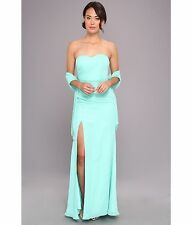 Faviana Strapless Sweetheart Chiffon Gown 7360 Spearmint Women's Bridal Dress 8