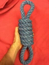 "Rope Dog Toy BLUE MASSIVE 3.5 INCH Thick 16"" healthy teeth Gum Tough Strong"