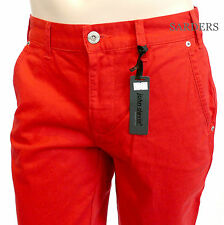 John Devin JD Chino W32 L32 Gerade Slim Fit Hose Jeans Rot Red Coloured Men Neu