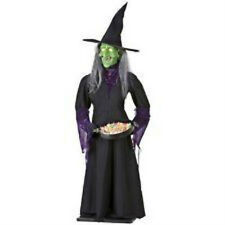 NEW LIFE SIZE HALLOWEEN ANIMATED WITCH CANDY DISH HEAD DROPS EYES GLOW PROPS 5.6