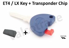 Uncut Key Blank for Vespa ET4. LX, LXV 125, 200, 250, 300 PLUS Transponder Chip.