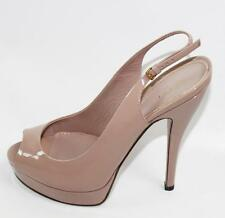 AUTH Gucci Women Pink Patent Leather Sandal High Heel Shoes 38