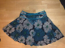 Papaya Floral Full Circle Knee Length Skirt Black White Turquoise Flowers Belted