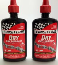 2 PACK FINISH LINE DRY TEFLON PLUS LUBE BIKE CHAIN DRY BICYCLE CHAIN LUBE 4 OZ