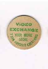 Vintage Wooden Nickel Video Exchange Your Movie Store 7 San Antonio Locations