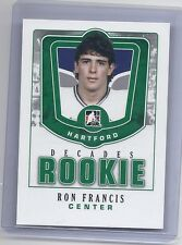 10-11 2010-11 IN THE GAME DECADES 1980'S RON FRANCIS ROOKIE DR-39 WHALERS