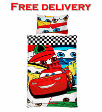 DISNEY STORE EXCLUSIVE Pixar Cars Single Bed Duvet Set 100% COTTON