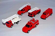 Maisto Lot of 5 Loose Mixed Style Fire Trucks Ladder Trucks