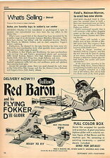 1970 ADVERT Guillow's Red Baron Toy Models Flying Fokker D VII Glider