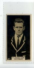 (JD1539-100)  WILLS NZ,NEW ZEALAND FOOTBALLERS,W.A.(JOCKEY) FORD,1927,#47