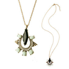 Hand Made Long Pendant Necklace Vintage Sweater Chain Geometric Costume Jewelry