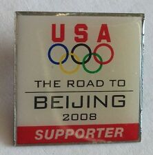 Beijing 2008 USA Supporter Olympics Pin Badge Rare Vintage (F3)