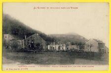 cpa Guerre Vosges TAINTRUX en 1915 ROUGIVILLE Hameau Incendié Caf de l'Union