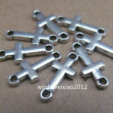 50pc Retro Tibetan Silver Cross Connectors  beads accessories wholesale  PL060