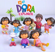 DORA THE EXPLORER ACTION FIGURE KIDS DISPLAY FIGURINES SET CAKE TOPPER DECOR TOY