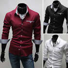 USC6083 New Mens Luxury Casual Slim Fit Stylish Dress Shirts 3 Colors US XS-XL