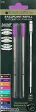 2 Pack Cross Pen Medium Point Refills by Monteverde - Purple