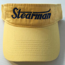 STEARMAN Sun Visor Yellow with Navy logo  FREE SHIPPING