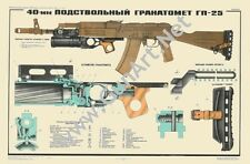 Color POSTER GP25 Grenade Launcher AKM AK47 AK74 Kalashnikov Manual SEE BUY NOW!