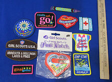 NOS Girl Scouts Badges For Various Activities Iron-On & Sew-On Lot of 11
