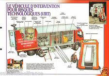 Vehicules d'Intervention Risques Technologiques VIRT FICHE Pompier FIREFIGHTER