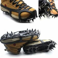 Winter 18-Teeth Hiking Crampons Gripper Antislip Ice Snow Climbing Shoe Spikes M