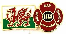 POPPY WALES 11.11.11 PIN BADGE