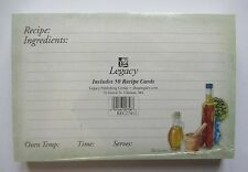 Italian Seasoning 50 Lined Recipe Cards card 4x6 Legacy paper Bridal shower gift