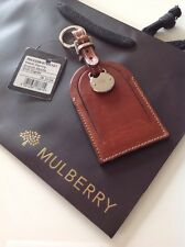 Rare Mulberry Mabel Keyring In Smooth Saddle Cognac Leather Brand New