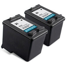 2 Pack HP 21 Ink Cartridge C9351AN - PSC 1410 1417 OfficeJet J3608 J3625 J3635