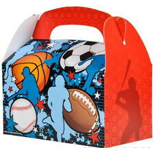12 SPORTS TREAT BOXES BASKETBALL FOOTBALL SOCCER BASEBALL GOODY TREAT PRIZE BAGS