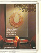 Designing in String Art 1972 Vintage Design Patterns Instruction Craft Book NEW