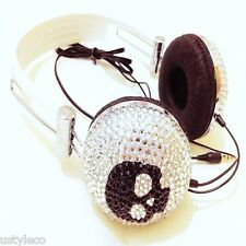 blingustyle Fashion Crystal diamante bling new ustyleco skull DJ headphone SB