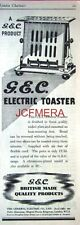 G.E.C. Electric Toaster; Original 1938 Advert - Vintage Art Deco Print AD.