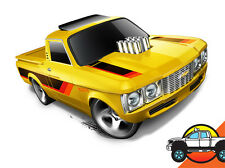 Hot Wheels Cars - Custom '72 Chevy LUV Yellow