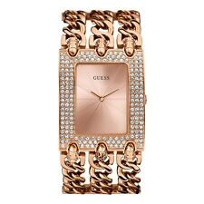 AUTHENTIC Guess Lady Watch Mod Heavy Metal Rose Gold Brand New $379 W0085L33