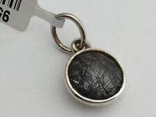 Authentic Pandora Dark Enchantment Black Rutilite Disc Pendant Charm 390173BRU
