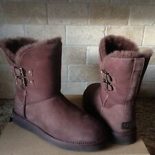 UGG Renley Demi Water-resistant Leather Sheepskin Buckle Boots US 10 Womens