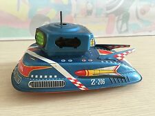 Vintage TPS Toys Japan Battery Tin Toy Flash Space Patrol Z-206 Moon Car Rare