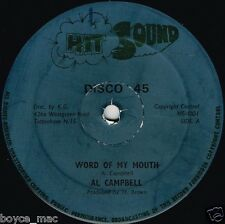 """hit sound 12"""" : AL CAMPBELL-word of my mouth    (hear)  reggae roots"""