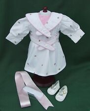 American Girl Retired SAMANTHA SPRING PARTY DRESS + TIGHTS + SHOES and BOW REPRO