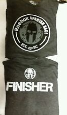 Lot of 2 - large - 2014 Spartan Race Finishers T-Shirt - Reebok