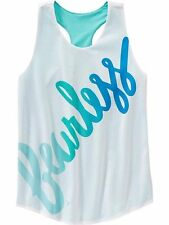 New Girls Old Navy Fearless White & Blue Mesh Athletic Tank Top Size 5