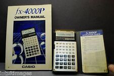 FX-4000P CASIO SCIENTIFIC CALCULATOR w/ Case & Owners Manual, New Batteries