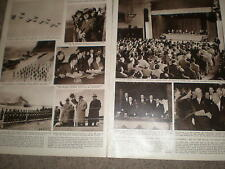 Photo article end of the Russian Bulganin Khrushchev visit to Uk 1956 ref Z