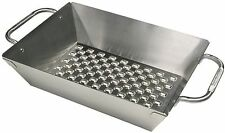 """Broil King Imperial Stainless Steel 13"""" x 9.75"""" Deep Dish Grill Wok 69818"""